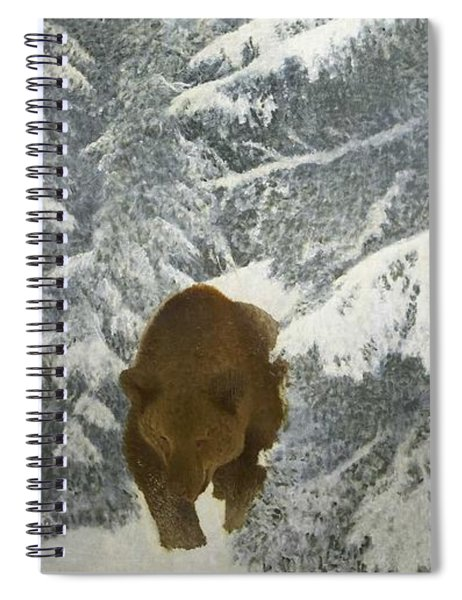 Bruno Liljefors 1860-1939 Bear In Winter Landscape Spiral Notebook