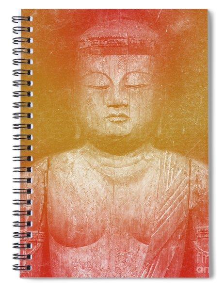 Buddha Square Golden Spiral Notebook