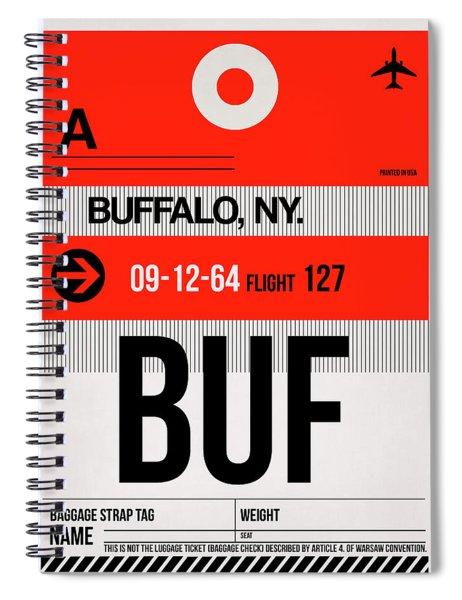 Buf Buffalo Luggage Tag I Spiral Notebook
