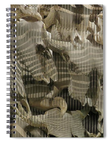 Buffalo Skulls Zebra Pattern 2 Spiral Notebook