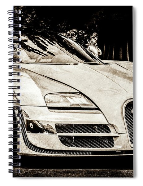 Bugatti Legend - Veyron Special Edition -0844scl2 Spiral Notebook