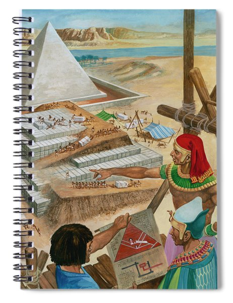 Building The Pyramids Spiral Notebook