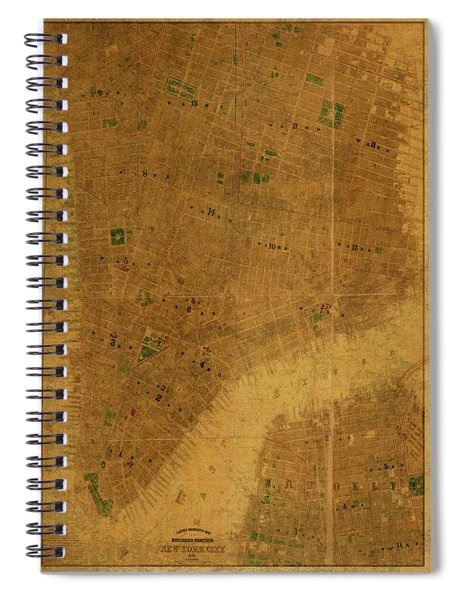 Buildings Of New York City 1867 Spiral Notebook