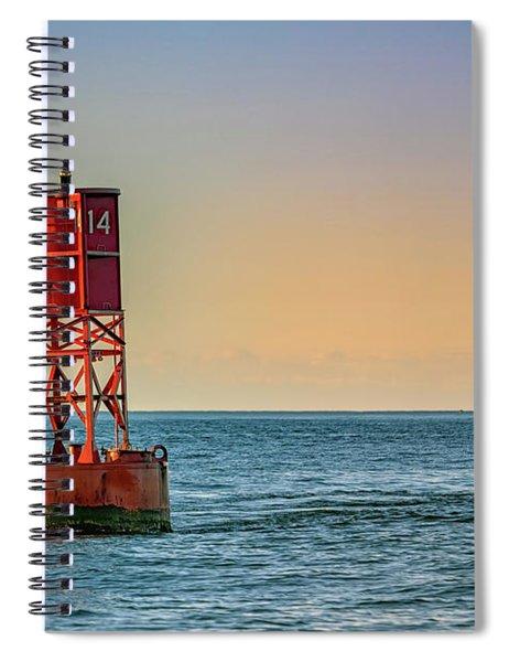 Buoy On Casco Bay Spiral Notebook