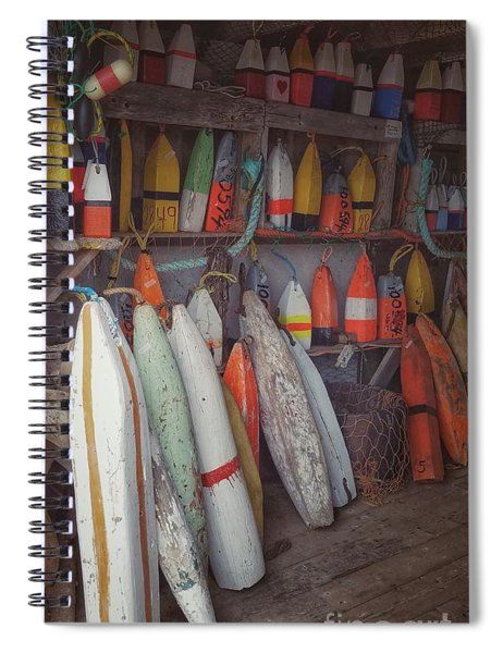 Buoys In A Sea Shack Spiral Notebook