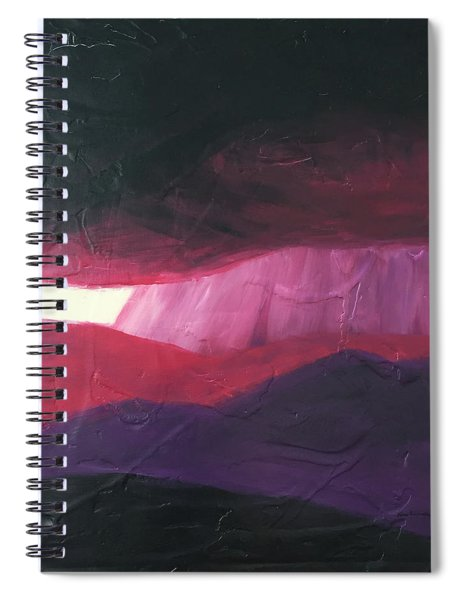 Burgundy Storm On The Horizon Spiral Notebook