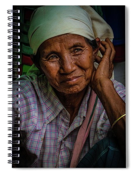 Burmese Lady Spiral Notebook