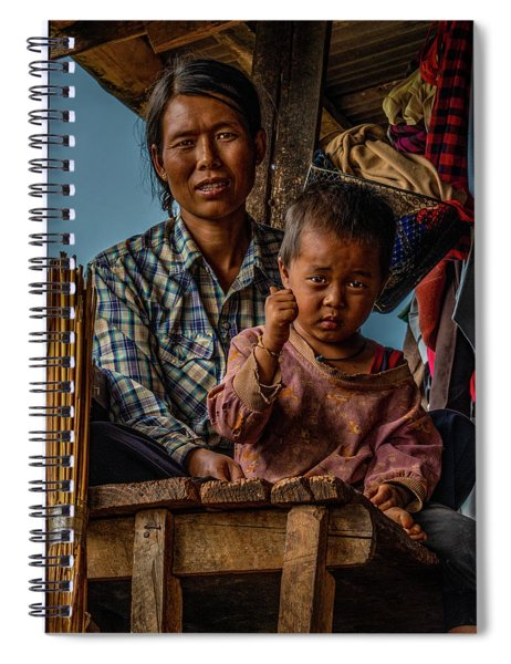 Burmese Mother And Child Spiral Notebook