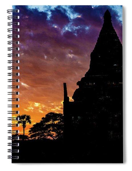 Burmese Sunset Spiral Notebook