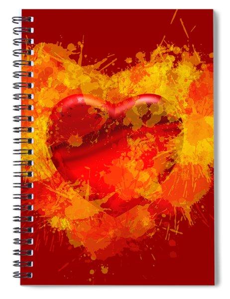 Burning Heart Spiral Notebook