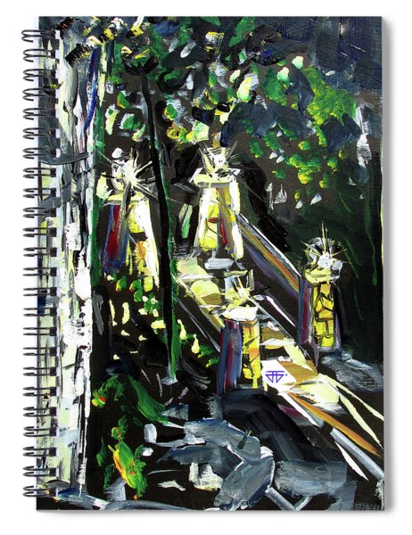 Burton Lanterns Spiral Notebook