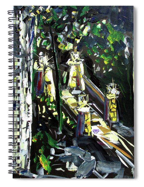 Burton Lanterns Spiral Notebook
