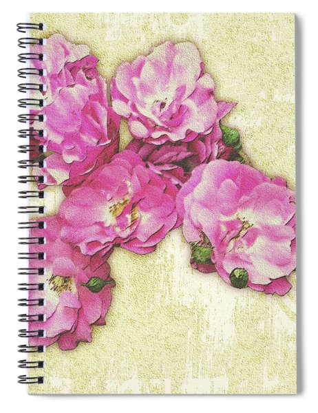 Bush Roses Painted On Sandstone Spiral Notebook