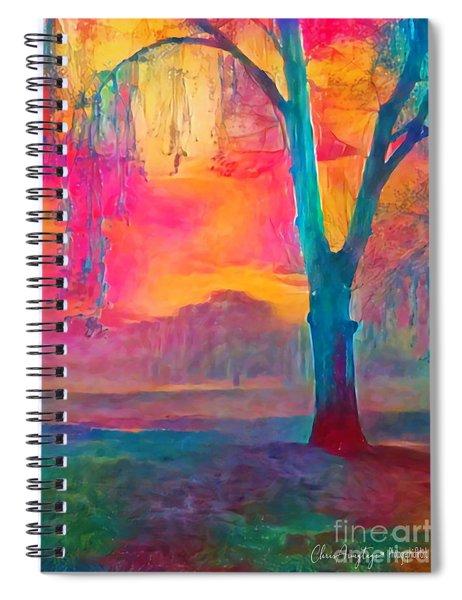 Bush Sunset  Spiral Notebook