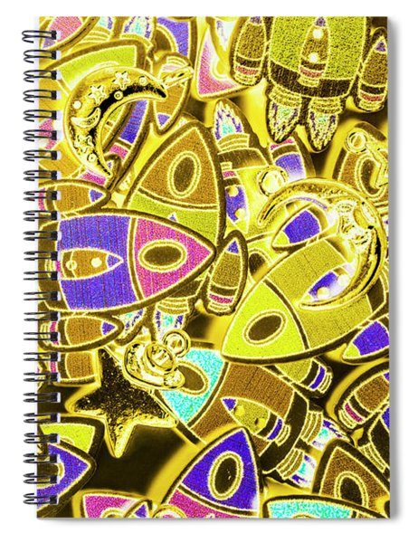 Busy Space Spiral Notebook