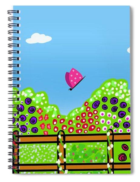 Butterflies And Flowers Spiral Notebook