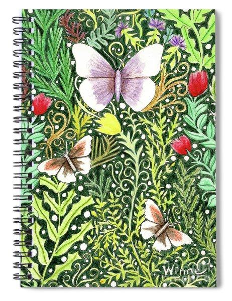 Butterflies In The Millefleurs Spiral Notebook