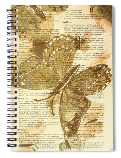 Butterfly Antiquities Spiral Notebook