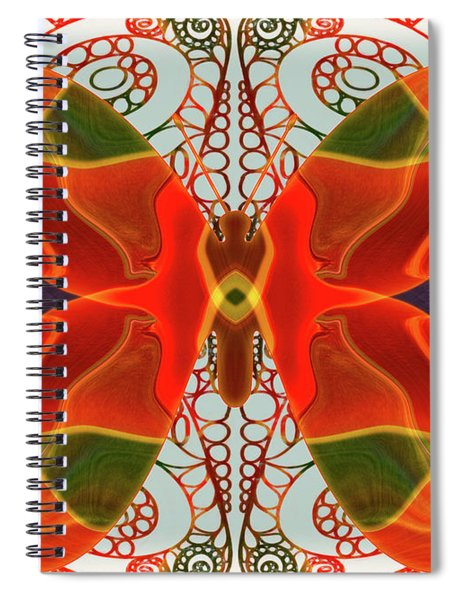 Butterfly Art - Circles And Spirals - Omaste Witkowski Spiral Notebook