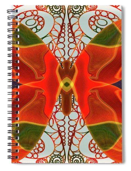 Butterfly Art - Circles And Spirals - Omaste Witkowski Spiral Notebook