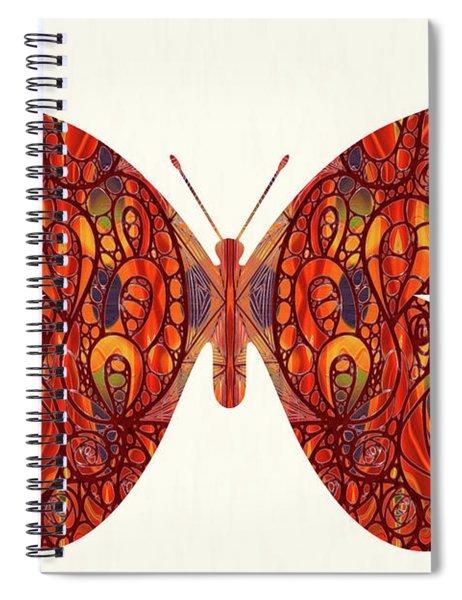 Butterfly Illustration Art - Complex Realities - Omaste Witkowski Spiral Notebook