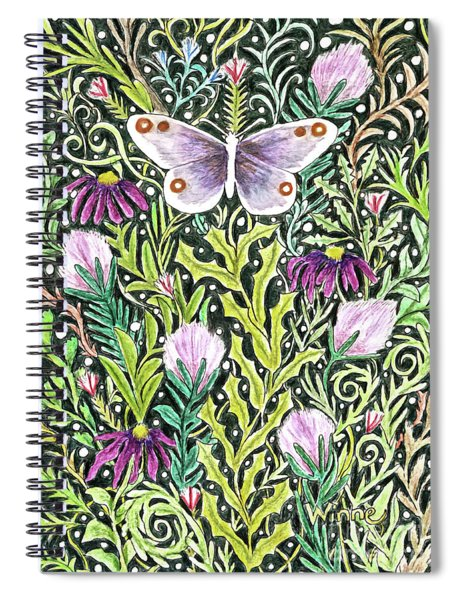 Butterfly Tapestry Design Spiral Notebook