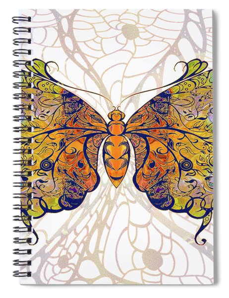 Butterfly Zen Meditation Abstract Digital Mixed Media Artwork By Omaste Witkowski Spiral Notebook