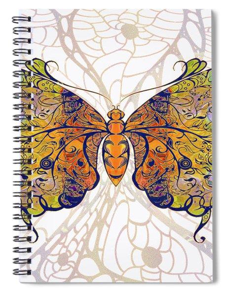 Butterfly Zen Meditation Abstract Digital Mixed Media Artwork By Omaste Witkowski Spiral Notebook by Omaste Witkowski
