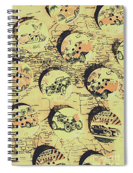 Button Auto Tour Spiral Notebook