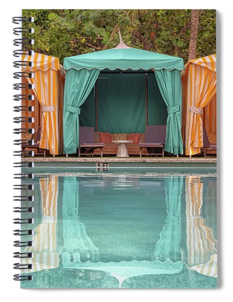Spiral Notebook featuring the photograph Cabanas by Alison Frank