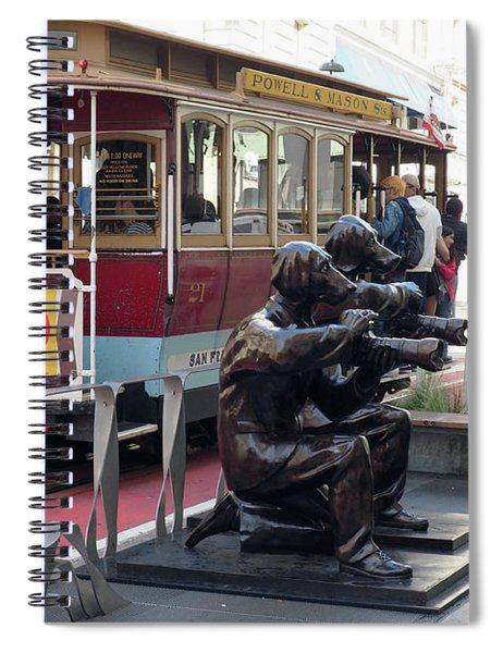 Cable Car And Paparazzi Dogs Spiral Notebook