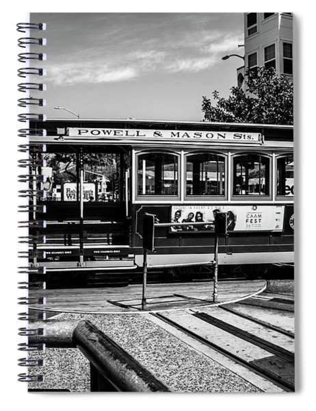Cable Car Turn Around Spiral Notebook