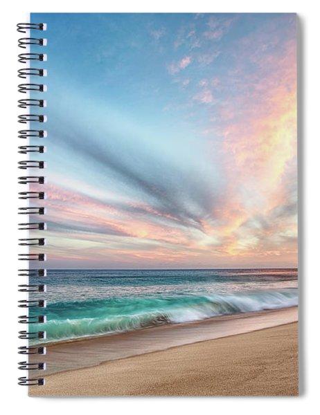 Cabo San Lucas Beach Wave Sunset Spiral Notebook