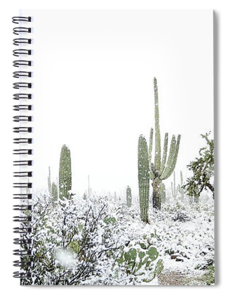 Cactus In The Snow Spiral Notebook