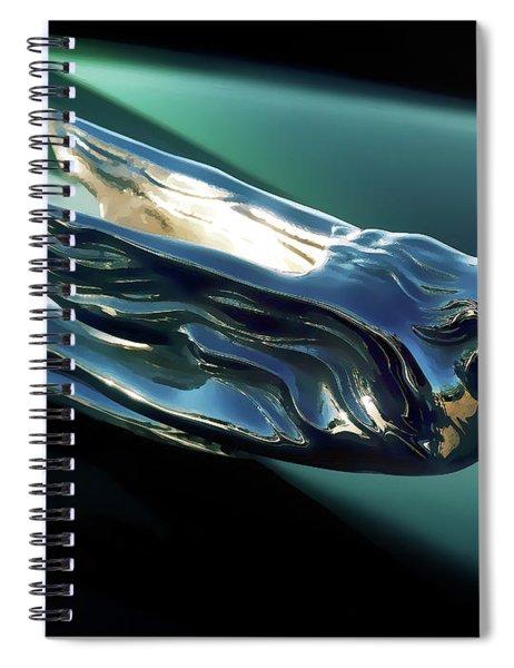 Cadillac Hood Ornament Spiral Notebook
