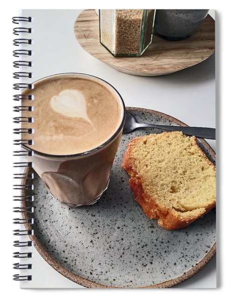 Cafe. Latte And Cake.  Spiral Notebook