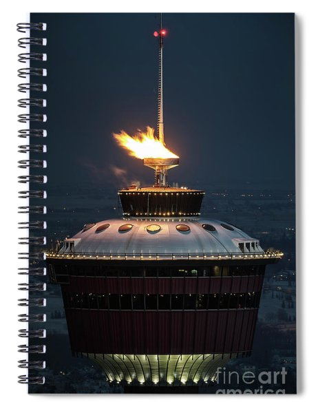 Calgary Tower - 2014 Olympic Torch Spiral Notebook