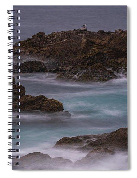 California Coast Waves Motion Spiral Notebook