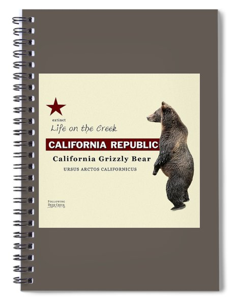 California Grizzly Spiral Notebook