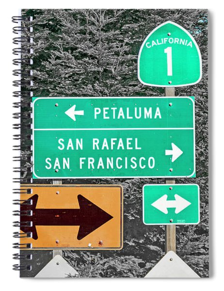 California Highway 1 Good Times Spiral Notebook