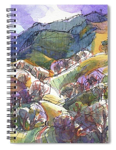 California Landscape With Mount Diablo Spiral Notebook