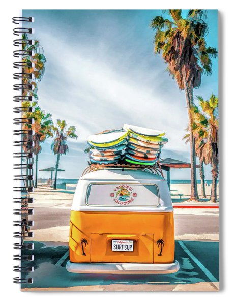 California Surfer Van Spiral Notebook by Christopher Arndt