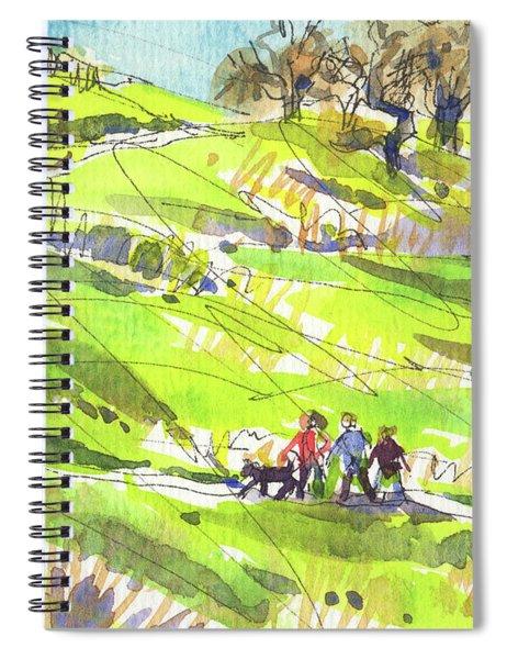 California Winter Walk Spiral Notebook