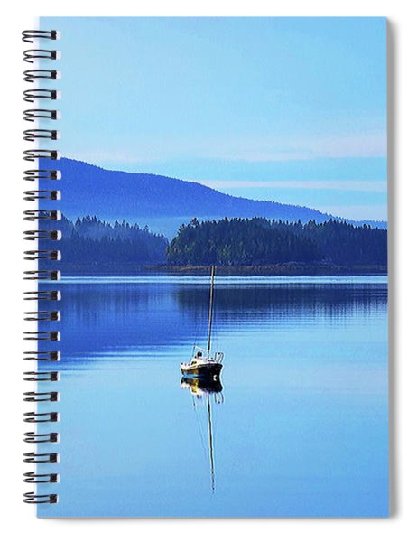 Spiral Notebook featuring the photograph Calm Morning Cove by Patti Whitten
