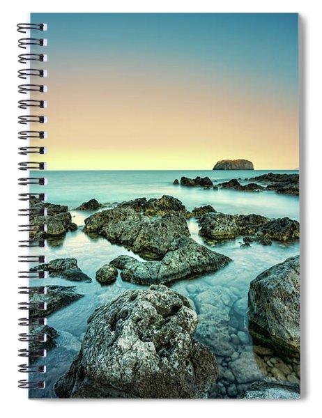 Calm Rocky Coast In Greece Spiral Notebook