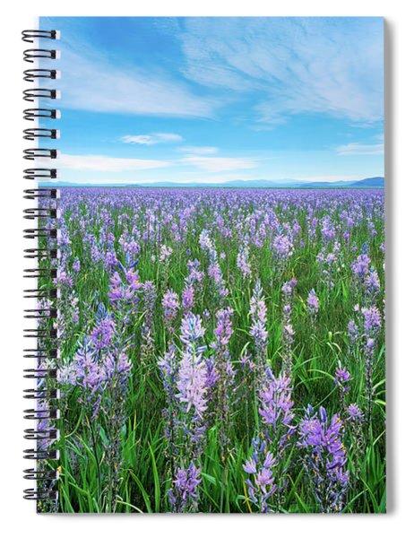 Camas Blue Spiral Notebook