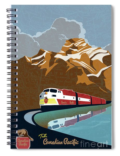 Canadian Pacific Rail Vintage Travel Poster Spiral Notebook