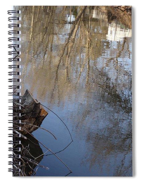 Canal Stumps-028 Spiral Notebook