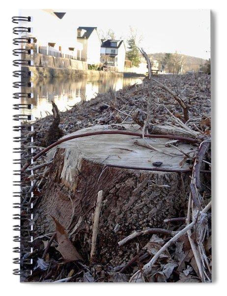 Canal Stumps-030 Spiral Notebook