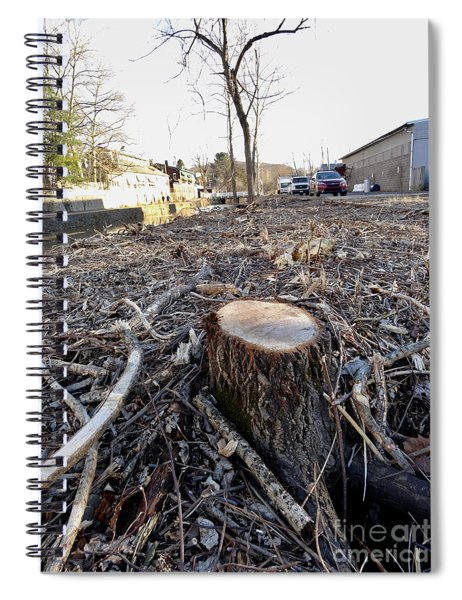 Canal Stumps-039 Spiral Notebook
